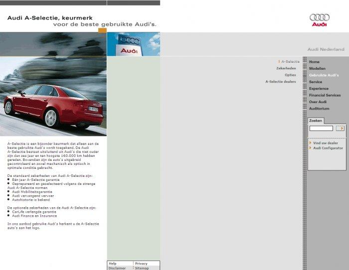 Product page, screenshot