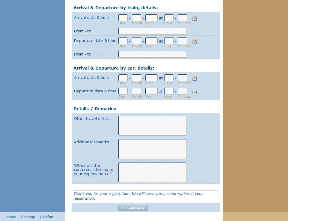 Ed-Pol International Conference Registration Form, part 3